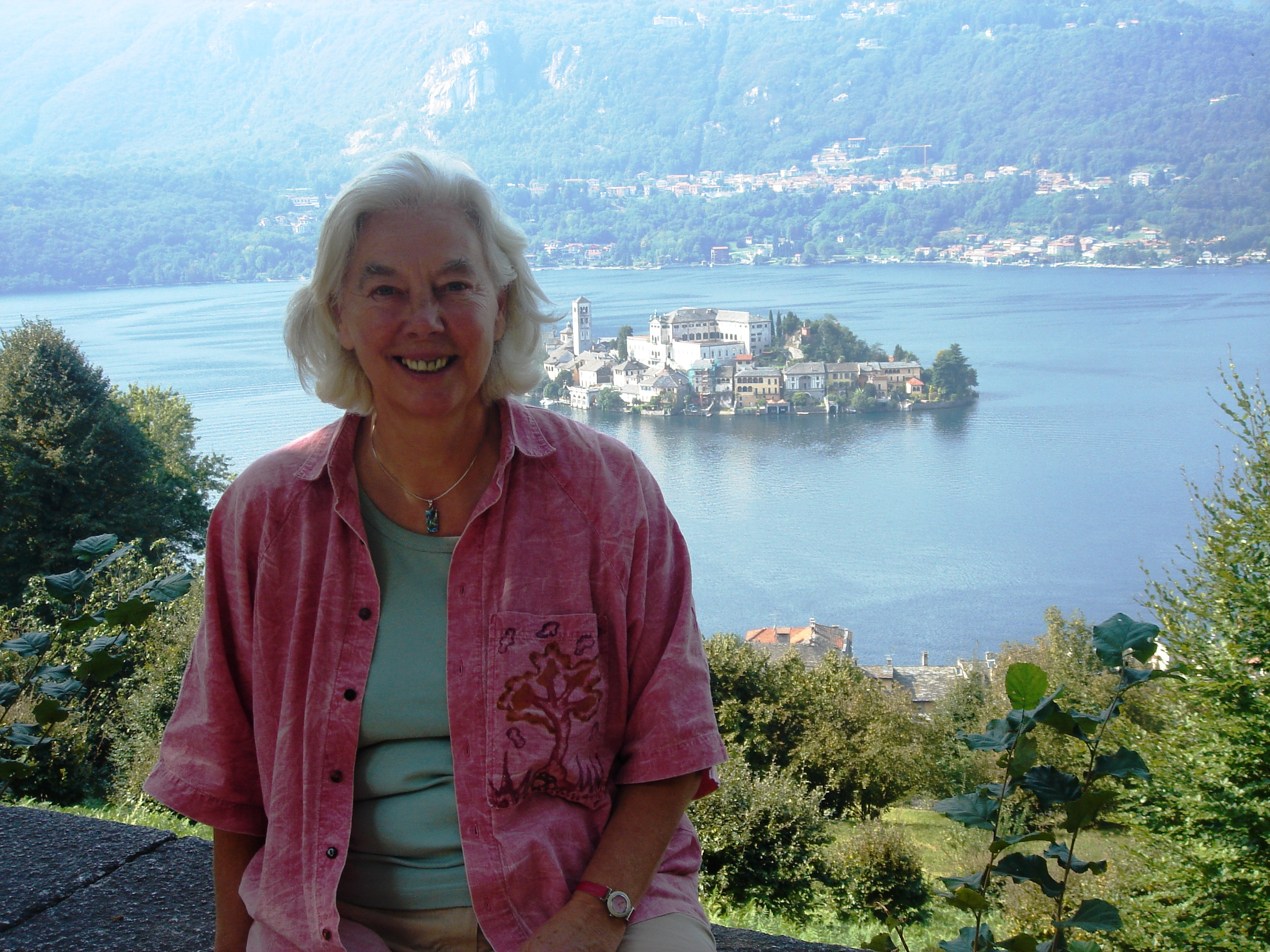 With Orta San Giulio in background